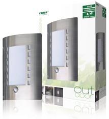 Ranex Ranex Ra-outdoor4 Muurlamp met Bewegingsdetectie E27 Ip44