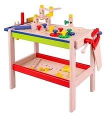 Basic Njoy Kids Houten Werkbank met Gereedschap en Accessoires 52-delig