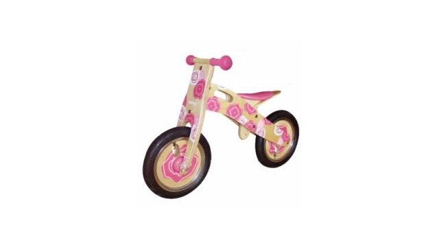 Simply for Kids Simply for Kids Houten Loopfiets Pink Flower