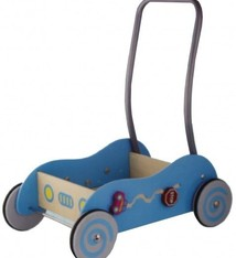 Simply for Kids Simply for Kids 598532 Houten Baby Duwwagen Blauw