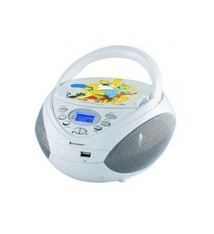 Sound Master Soundmaster SCD3750DS Simpsons CD Boombox met MP-3 en USB Wit