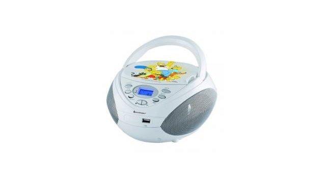 Soundmaster SCD3750DS Simpsons CD Boombox met MP-3 en USB Wit