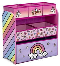 Delta Children Rainbow Dreams Eenhoorn TB83402RD Houten Speelgoed Opbergkast
