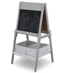 Delta Children Delta Children TE87600GN Houten Dubbelzijdig Krijtbord/Whiteboard + Papierrol Grijs