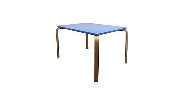 Simply for Kids Simply for Kids TR4119 Houten Tafel 70x45cm Blauw