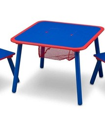 Delta Children Delta Children TT89514GN Tafel met 2 Stoelen + Opbergruimte Blauw/Rood