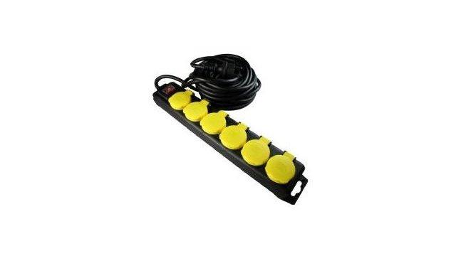 NVoltz NVOLTZ Professionele TCD 6-Voudig 3x1,5mm (stekkerdoos)