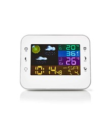 Nedis Nedis WEST402WT Weerstation Draadloze Sensor Alarmklok Weersvoorspelling