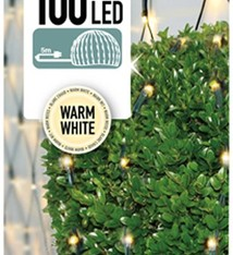DecorativeLighting Buxus Netverlichting 100 LED's warm wit