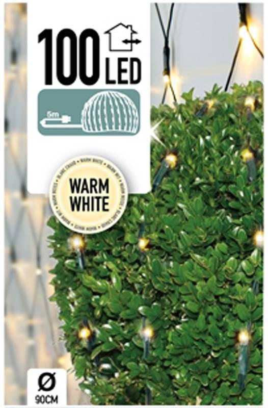 DecorativeLighting Buxus Netverlichting 100 LED's warm wit