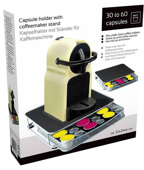 Capsulehouder met standaard voor koffiezetapparaat