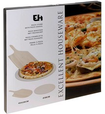 Excellent Houseware Pizza-baksteen met pizza-schep