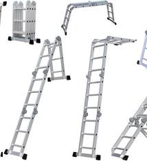 WorkMen Vouwladder 4 x 3 sporten