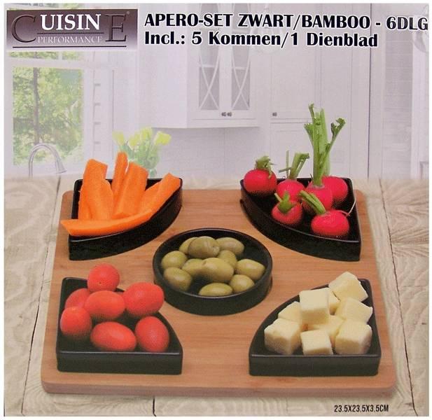 Cuisine Performance Tapasset aardewerk-bamboe