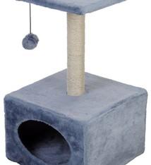 Kattenspeeltoren grijs