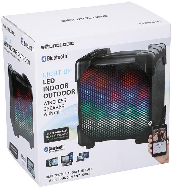 Soundlogic LED Speaker - Indoor/outdoor