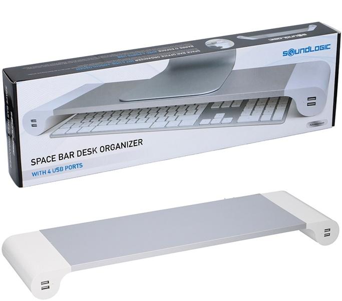 Soundlogic Space Bar Desk Organizer met 4 USB-laadpunten