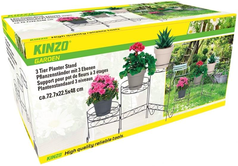 Kinzo Garden Plantenstandaard met 3 niveaus