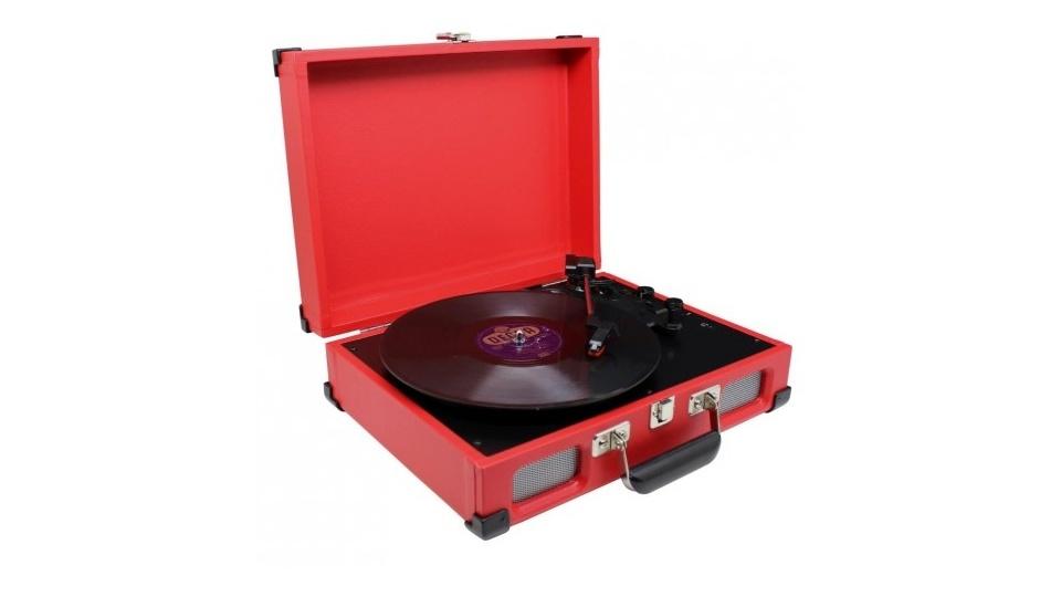 Sound Master Soundmaster PL580RO Platenspeler Koffermodel Rood