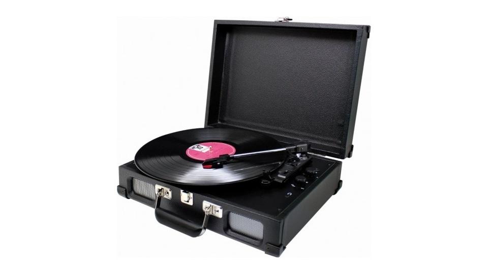 Sound Master Soundmaster PL580SW Platenspeler Koffermodel Zwart