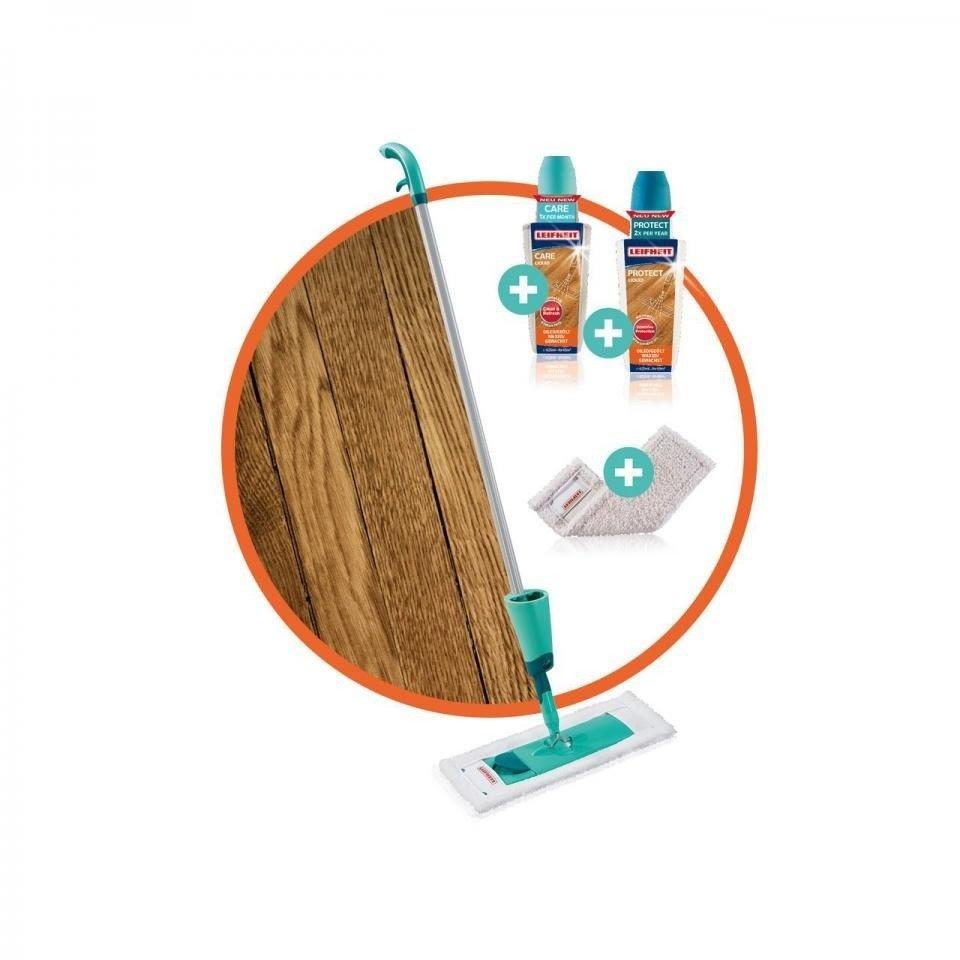 Leifheit Leifheit 56499 Care & Protect Set voor Geoliede/Gewaxte Houten Vloeren
