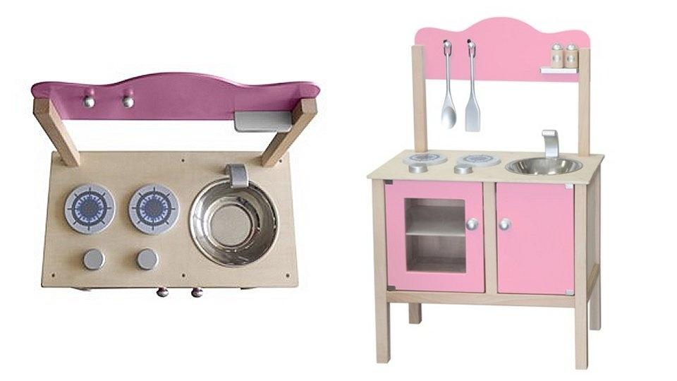 Simply for Kids Simply for Kids Houten Kinderkeuken Roze