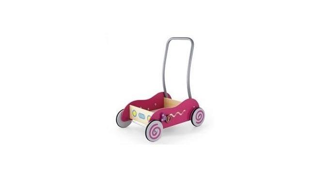 Simply for Kids Simply for Kids 598531 Houten Baby Duwwagen Roze