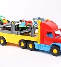 Wader Wader 36620 Vrachtwagen Met Trailer Multicolor