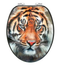 Cornat Cornat KSD707 3D Tiger Houten WC Bril 130-180mm