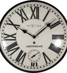 NeXtime NeXtime NE-3231 Wandklok Amsterdam Dome Ø30 Metaal Zwart