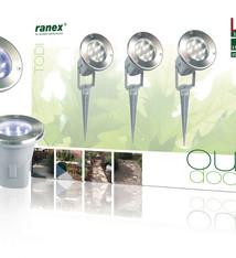 Ranex Ranex RA-5000158 Led Grond Spot 21.6 W 120 Lm 5700 K