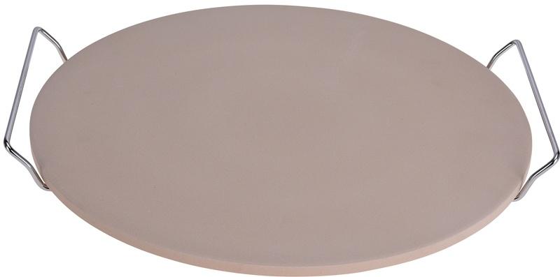 Excellent Houseware Pizza-baksteen 33cm met metalen houder