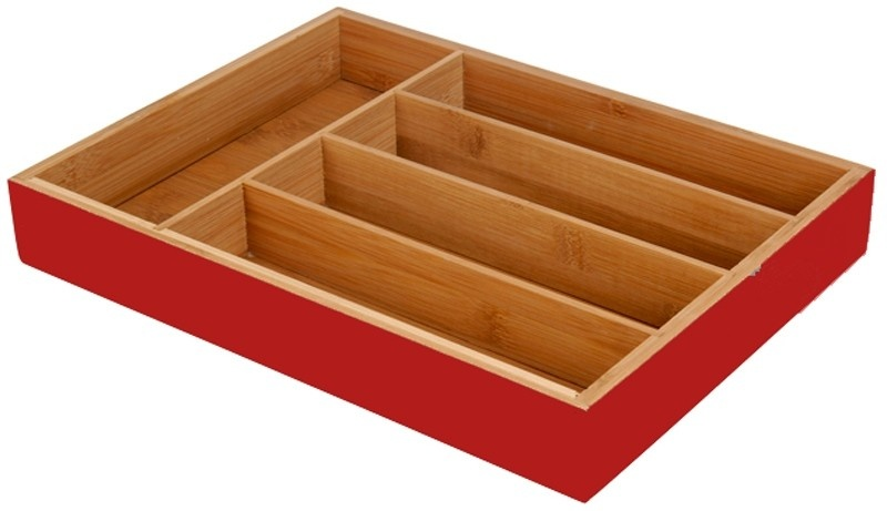 Excellent Houseware Besteklade rood