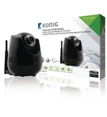 König SAS-IPCAM110B Indoor Pan-tilt Ip-camera voor Bewaking Op Afstand Zwart