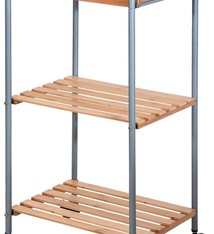 Bathroom Solutions Badkamertrolley bamboe / metaal