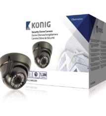 König SAS-CAM3200 Beveiligings Domecamera met Varifocale Lens Zwart