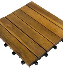 Kynast Garden Terrastegels 4 stuks - 30x30cm acaciahout