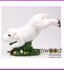 Farmwood Animals Farmwood Animals Lam springend polystone 38x16x25 cm
