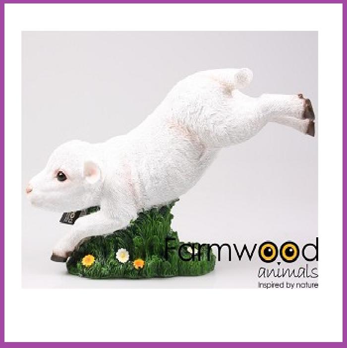 Farmwood Animals Farmwood Animals Lam springend polystone 38x16x25 cm