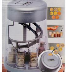 Sorteer- en tel-spaarpot  zilver