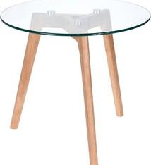 Home & Styling Bijzettafel met glazen plaat - Ø50cm