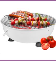 Cuisinier Deluxe Elektrische tafel barbecue wit