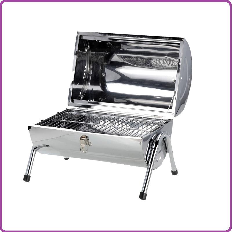 BBQ BBQ Cilinder Barbecue met dubbel grilloppervlak
