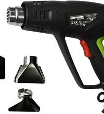 Constructor Heteluchtpistool - Verfafbrander 2000W - met koffer en accessoires