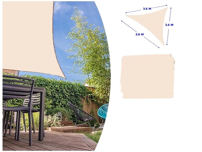 Lifetime Garden Schaduwdoek creme 3.6m x 3.6m x 3.6m