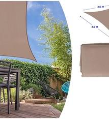 Lifetime Garden Schaduwdoek taupe 3.6m x 3.6m x 3.6m
