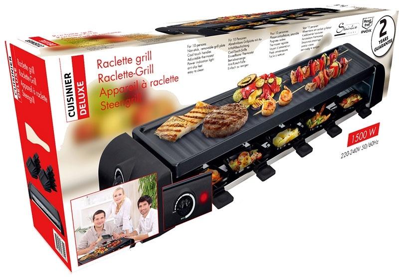 Cuisinier Deluxe Grillplaat Gourmetset 1500W 60cm