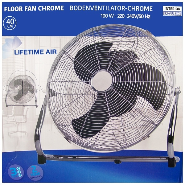 Interior Exclusive Vloerventilator chroom - Ø40cm