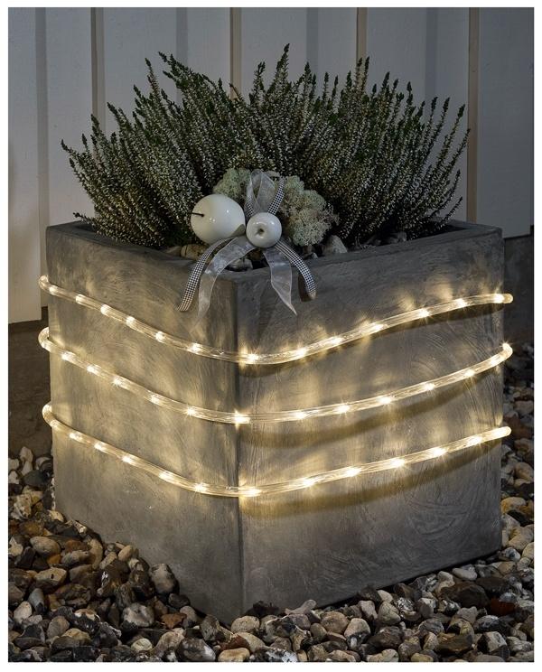 Konstsmide LED Lichtslang 9 meter, met sensor en timer, warm wit - 144 LED's