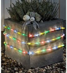 Konstsmide LED Lichtslang 6 meter, met sensor en timer, multicolor - 96 LED's